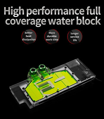 Barrow Geforce RTX 2070 2080 2080 Ti Full Waterblock Reference Founder Edition