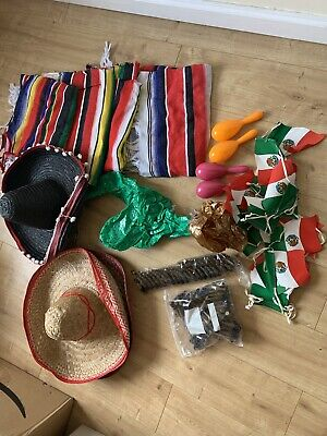 Four X Adult Mexican Fancy Dress And Fun Accessories