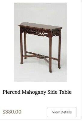 Solid Mahogany Side / Console Table. Laurel Crown Quality Reproduction