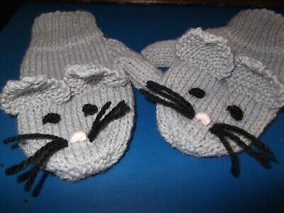 Child's  Mouse Mittens 3-5 Yrs
