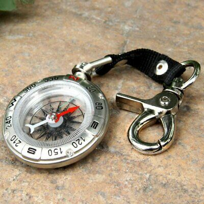 Compass Retro Pocket Vintage Outdoor Camping Hiking Survival Tools with Keychain