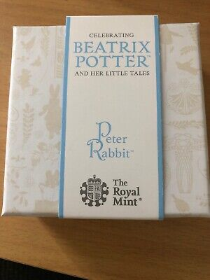 The Royal Mint UK Beatrix Potter Peter Rabbit Solid Silver Proof 50p 2018 LE