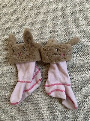 Little Joules Peter Rabbit Topsy Welly Socks Pale Pink UK 8-10