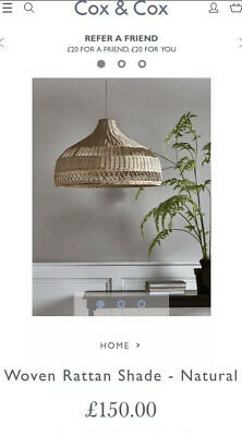 Cox and Cox Extra Large Rattan Lampshade RRP £150