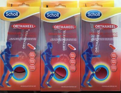 Scholl - Orthaheel Regular Orthotic - Size S, M, L, (Brand New In Sealed Box)
