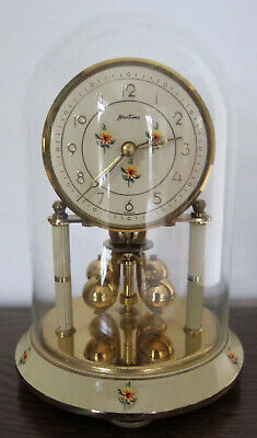 KERN / BENTIMA 400 DAY ANNIVERSARY CLOCK WITH GLASS DOME - Good Working Order