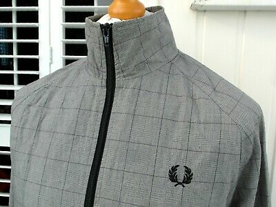 Fred Perry Prince Of Wales Bomber Jacket - M/L - Scooter Mod Terraces Casuals