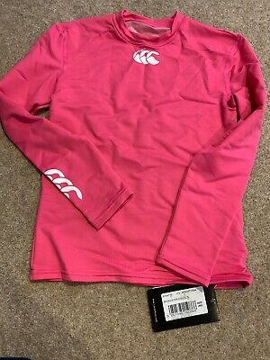 Brand New Kids Canterbury Cold baselayer pink long sleeve top Medium