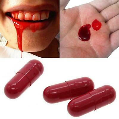 A862 Fang Fake Blood Set Vampire Dracula Teeth Costume Werewolves Halloween Prop