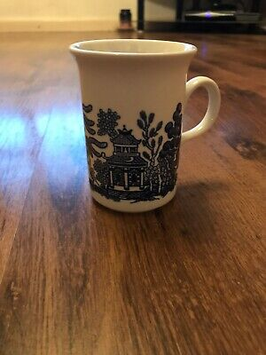 Churchill blue willow coffee Cup