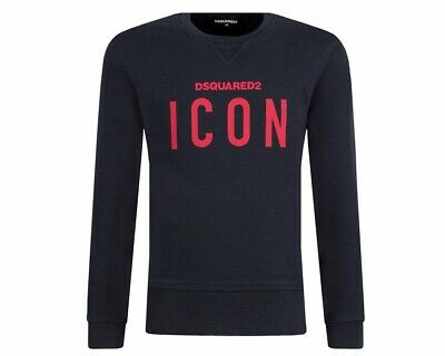 Dsquared2 Junior's D2S248U Icon Crew Neck Boys Dsquared Sweatshirt Blue Jumper
