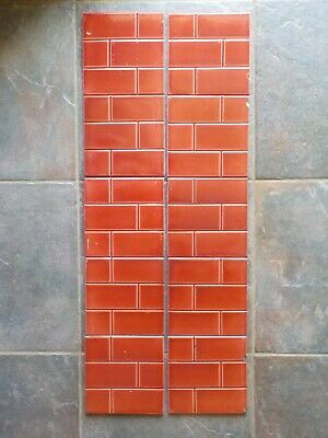 10 Victorian Brick Effect Fireplace Tiles