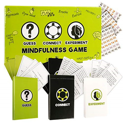 Mindfulness Cards, Therapy for Kids Card Games: 3 Games in 1 Box,Fun Family Game