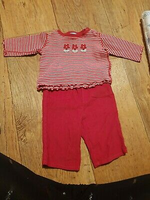 0-3 Months Girls Top And Trousers