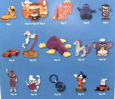 Mcdonalds 2019 40th Anniversary Toys (Limited Supply)