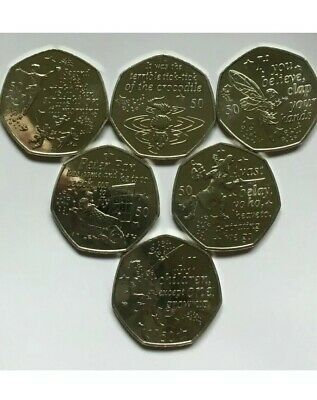 Full Set Peter Pan 50p 2019 Crocodile Captain Hook Wendy Nana Tinkerbell Frm Bag