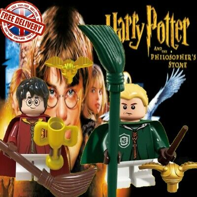 Custom Lego compatible Harry Potter & Draco Malfoy Valentines Gift JKR QUIDITCH
