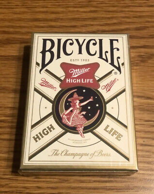 Bicycle Miller High Life Beer Girl On The Moon Full Deck Of Cards Poker Man Cave