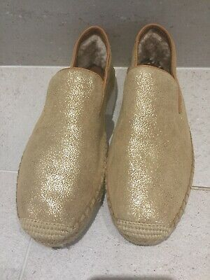 New Genuine Beautiful Gold Ugg Shoes Size 6.5