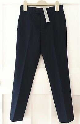 Brand New NEXT Signature Boys Smart Trousers in Navy, Size 9 years