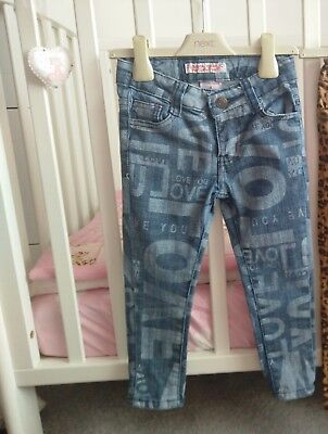CRYSTAL VOGUE___denim trousers jeans girl age 4 yrs ex con