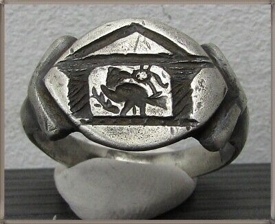 ** LEGIONARY EAGLE **Ancient Silver Legionary Roman Ring **AMAZING **
