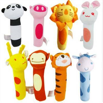 Baby Bed Stroller Rattle Soft Plush Music Toy Kids Ring Bell Crib Doll LJ