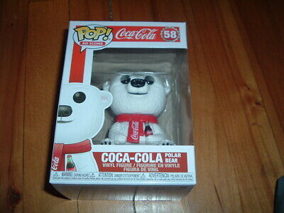 Funko Pop! Coca-Cola Polar Bear #58~ New~ Mint~ Ad Icons Series~