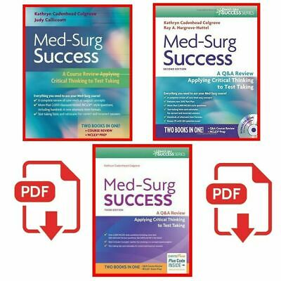 Med-surg success:Q&A review applying critical thinking to test taking 🅴🅱🅾🅾🅺