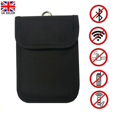 Keyless Entry Car Key Fob Signal Blocker Guard Case Faraday Bag Pouch Kit Black