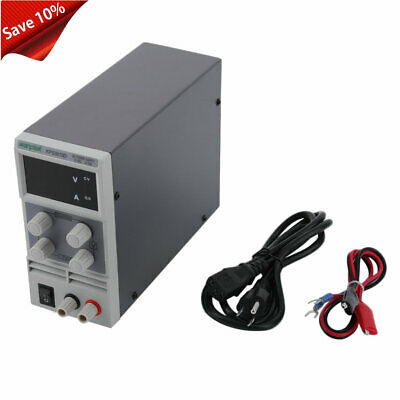 30V 10A Adjustable Variable Digital DC Regulated Power Supply Grade w/Cable HC