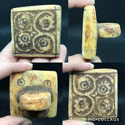 wonderful rare Medieval antique stone beautiful design stamp