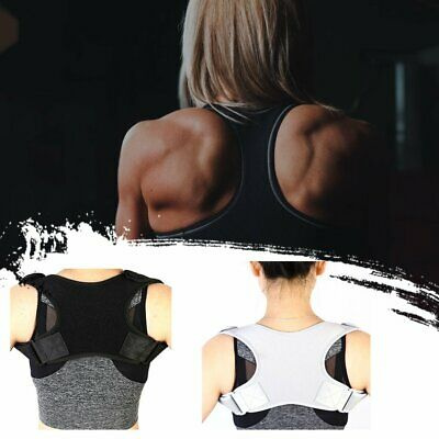 Posture Corrector Women Men Shoulder Brace Back Support Strap Belt Adjustable NH
