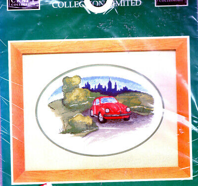 BARGAIN!! VW Beetle Country Retreat LARGE Counted Cross Stitch Kit