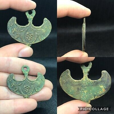 rare unique ancient Mongolian empire wonderful bronze pendant