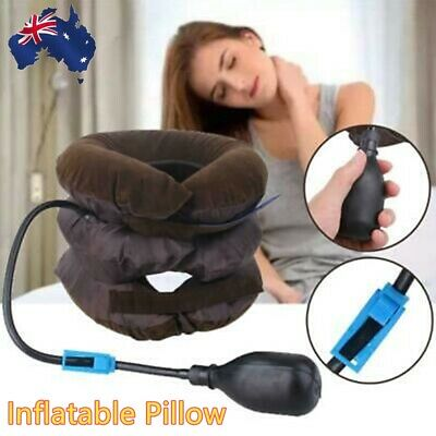U-shaped Travel Pillow Inflatable Air Pad Sleeping Neck Support Headrest Relax U