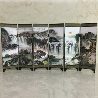 Gift Screen Divider Oriental Commemorative Separator Wooden Wall Chinese