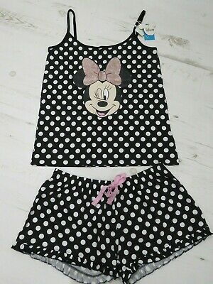 New ladies Disney Primark Minnie Mouse shortie pyjamas size 12-14