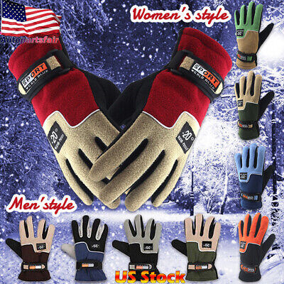 Mens Womens Winter Sports Gloves Outdoor Touch Screen Thermal Anti-wind/water