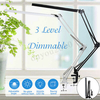 Flexible Dimmable Swing Arm Clamp Mount Lamp Office Studio Home Table Desk