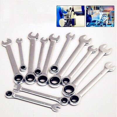 Metal Durable Wrench Dual Heads Ratchet Dicephalous Spanners for Screw Home