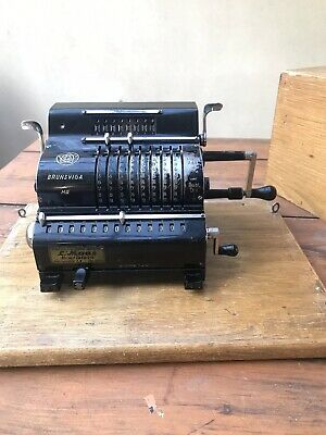Rare Brunsviga MIII Mechanical Calculator Germany Made 1925-27 In Working Order