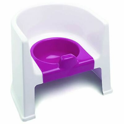 The Neat Nursery Co. Potty Chair White / Pink