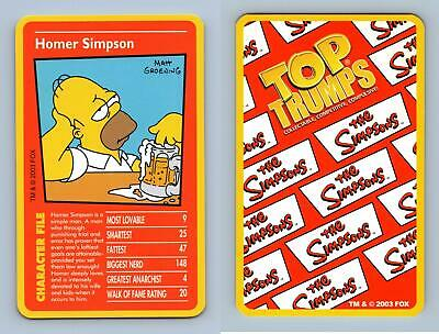 Die Cut Simpsons 10th Anniversary Cut Up Chase Card C5