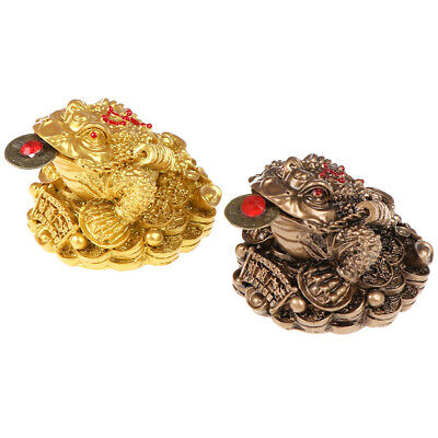 Feng Shui Toad Money lucky Fortune Chinese Frog Toad Home Office Decoration TD