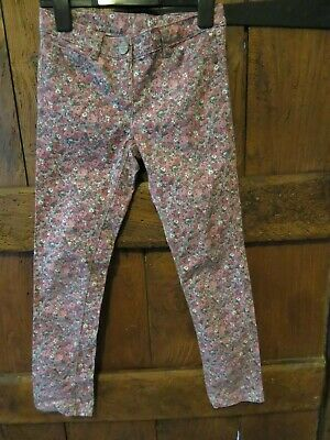 Next Girls Pink Floral Jeans Trousers Age 9 Years EX COND
