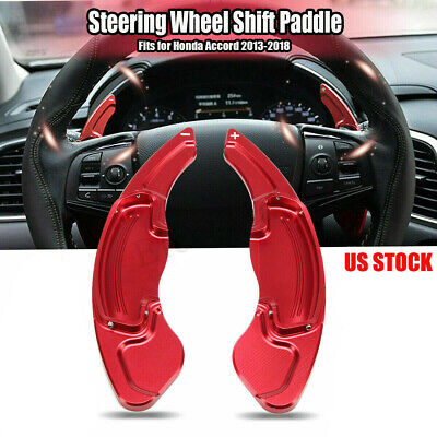 For Honda Accord 13-18 Aluminum Red DSG Paddle Shifters Extensions Trim Decor US