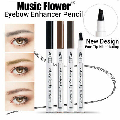 Eyebrow Pen Tattoo Microblading Waterproof Fork Tip 3D Makeup Eyebrow Pencil Ink