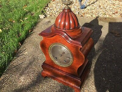 Antique Clock Lenzkirch Birds Eye Maple Ting Tang Substantial Size