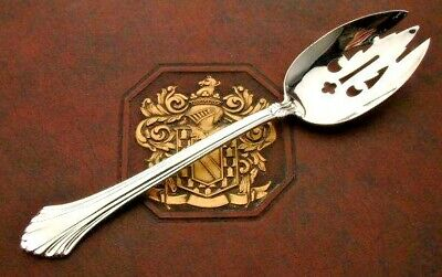 French Regency by Wallace Sterling Silver Pierced Table Serving Spoon 8.5""
